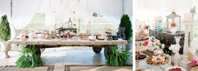 Wedding Dessert Cart Spread photo